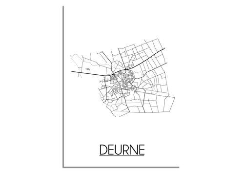 DesignClaud Deurne Plattegrond poster
