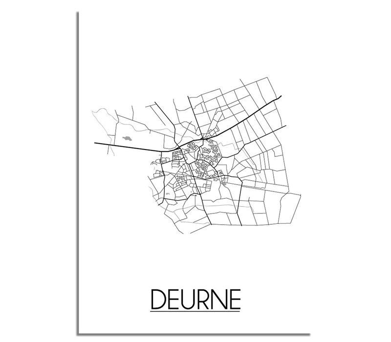 Deurne Stadtplan-poster