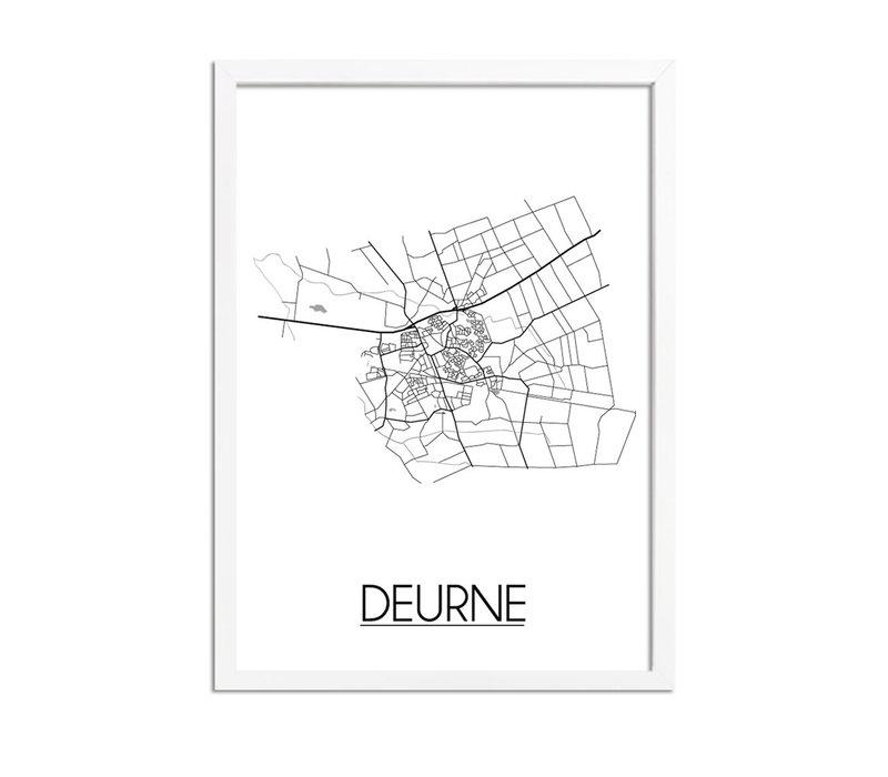 Deurne Plattegrond poster
