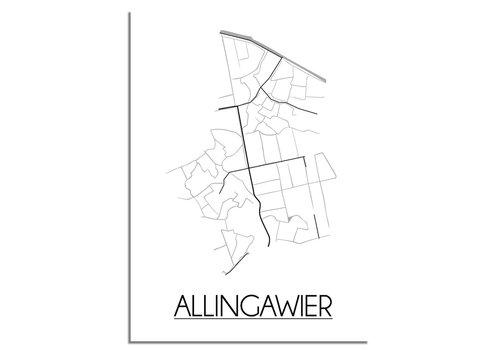 DesignClaud Allingawier Stadtplan-poster