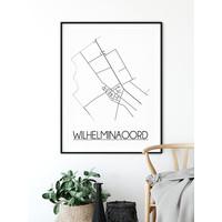 Wilhelminaoord Plattegrond poster