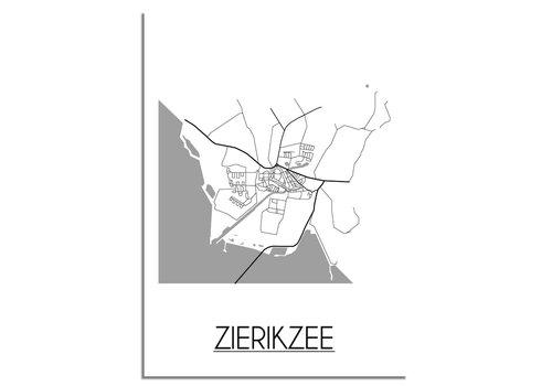 DesignClaud Zierikzee Plattegrond poster