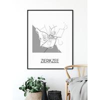 Zierikzee Plattegrond poster