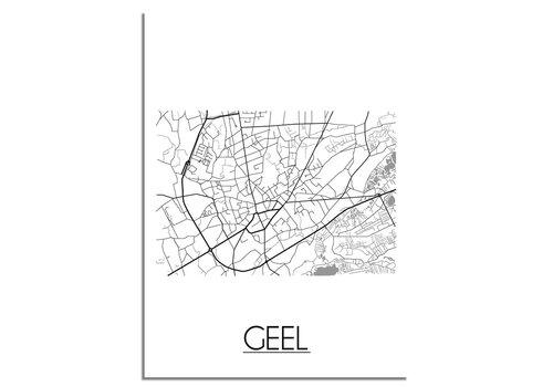 DesignClaud Geel België Plattegrond poster