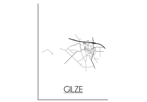 DesignClaud Gilze Plattegrond poster