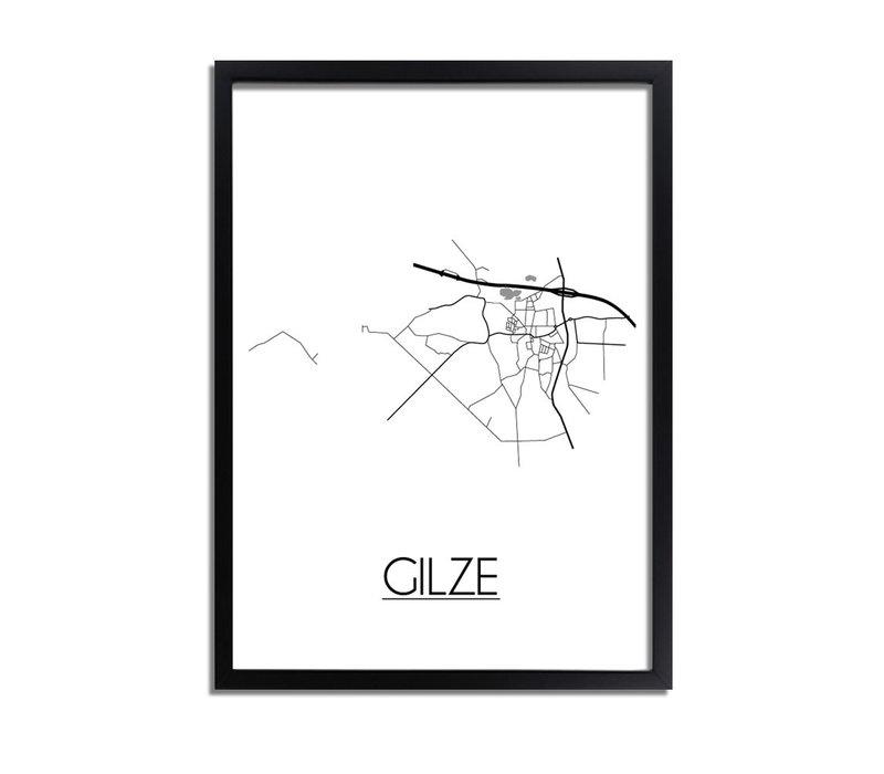 Gilze Plattegrond poster