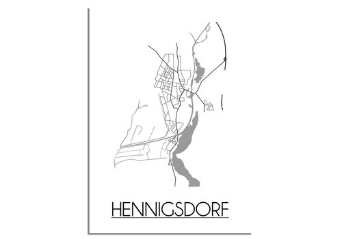 DesignClaud Hennigsdorf Plattegrond poster