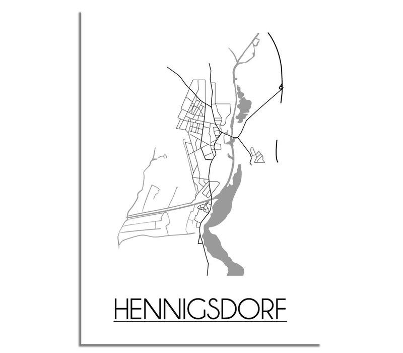 Hennigsdorf Plattegrond poster