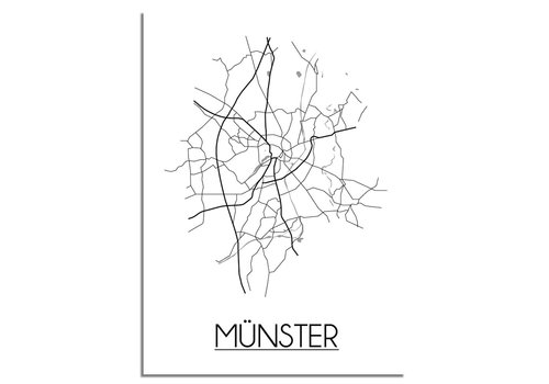 DesignClaud Münster Plattegrond poster