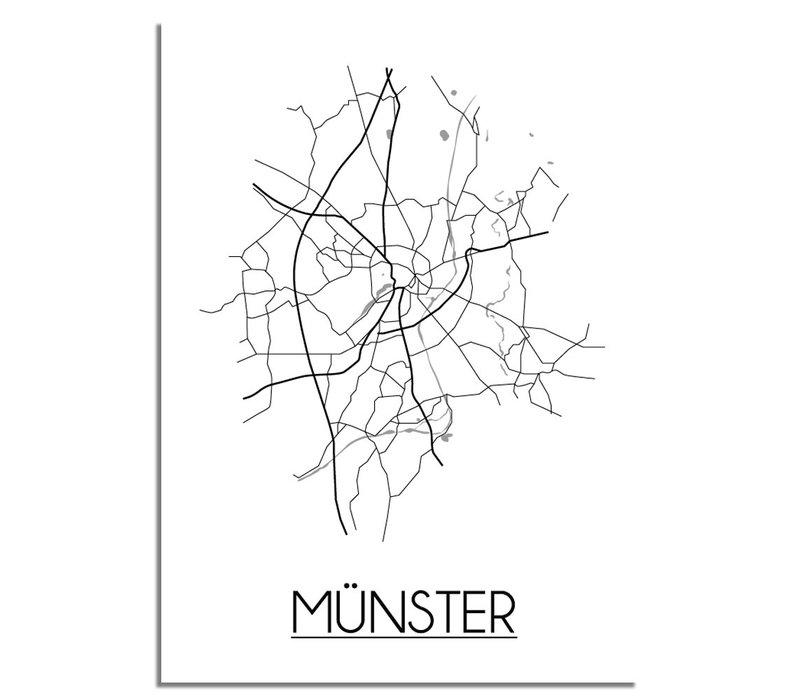 Münster Plattegrond poster