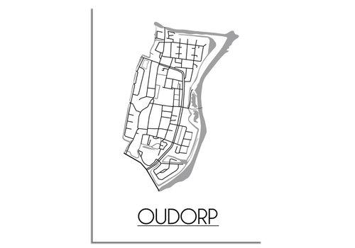 DesignClaud Oudorp Plattegrond poster