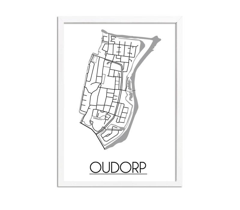Oudorp Plattegrond poster