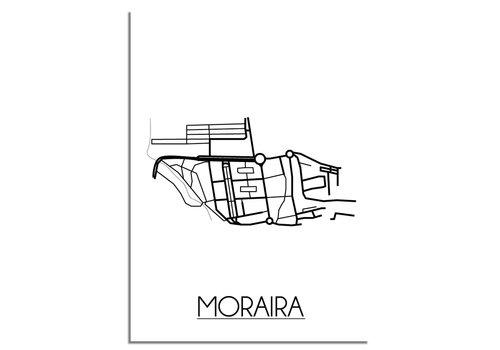 DesignClaud Moraira Plattegrond poster
