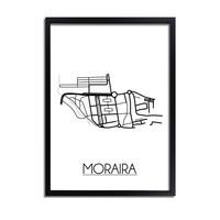 Moraira Plattegrond poster