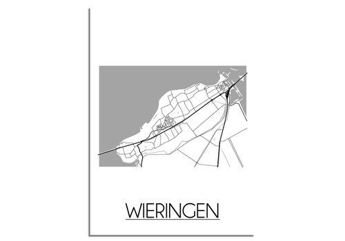 DesignClaud Wieringen Plattegrond poster