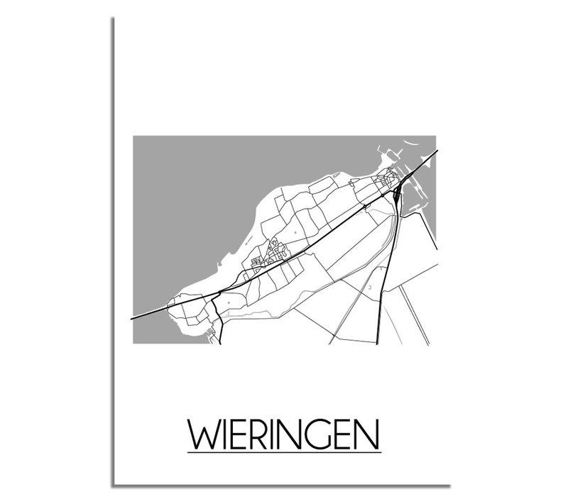 Wieringen Plattegrond poster