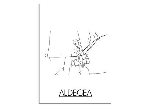 DesignClaud Aldegea Stadtplan-poster