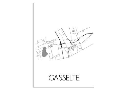 DesignClaud Gasselte Plattegrond poster