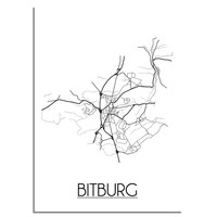 Bitburg Plattegrond poster