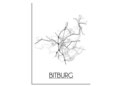 DesignClaud Bitburg Stadtplan-poster