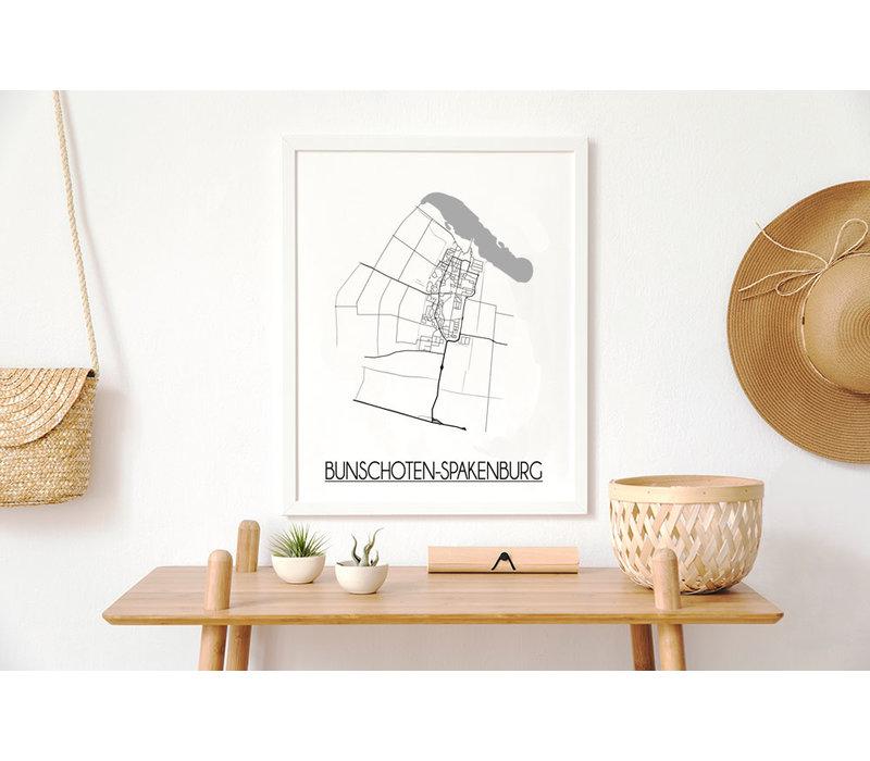 Bunschoten-Spakenburg Plattegrond poster