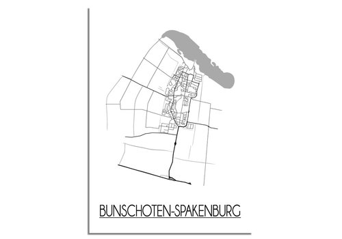 DesignClaud Bunschoten-Spakenburg Plattegrond poster