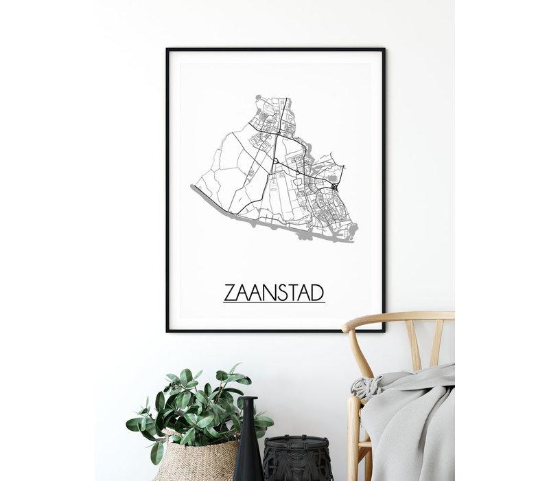 Zaanstad Plattegrond poster