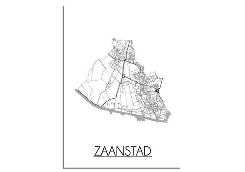 DesignClaud Zaanstad Plattegrond poster