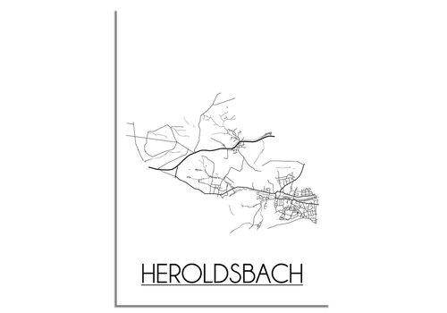 DesignClaud Heroldsbach Plattegrond poster