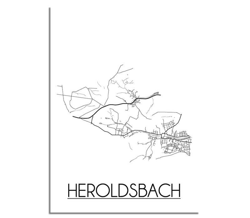 Heroldsbach Plattegrond poster