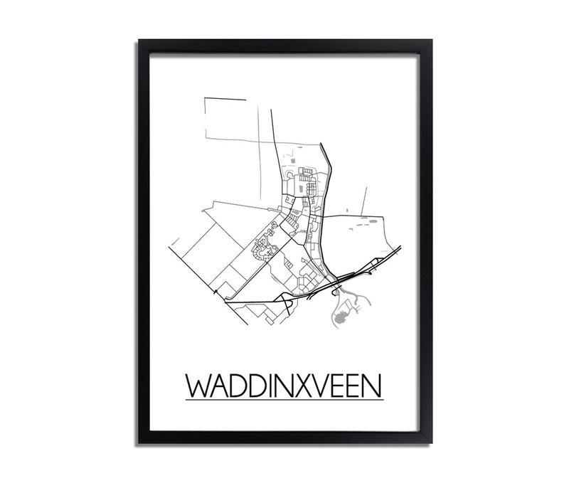 Waddinxveen Plattegrond poster