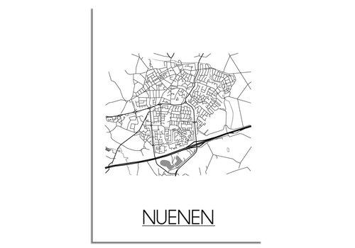 DesignClaud Nuenen Plattegrond poster