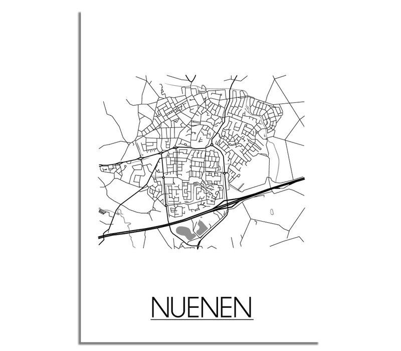 Nuenen Plattegrond poster