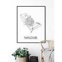 Naaldwijk Plattegrond poster