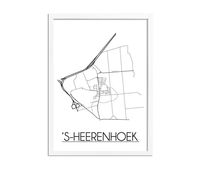 's-Heerenhoek Plattegrond poster