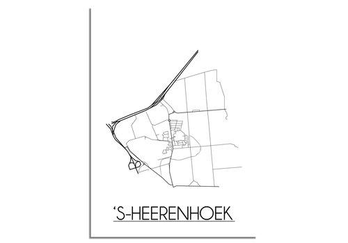 DesignClaud 's-Heerenhoek Stadtplan-poster