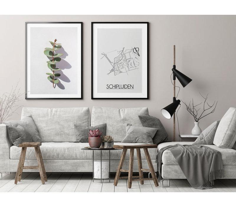 Schipluiden Plattegrond poster
