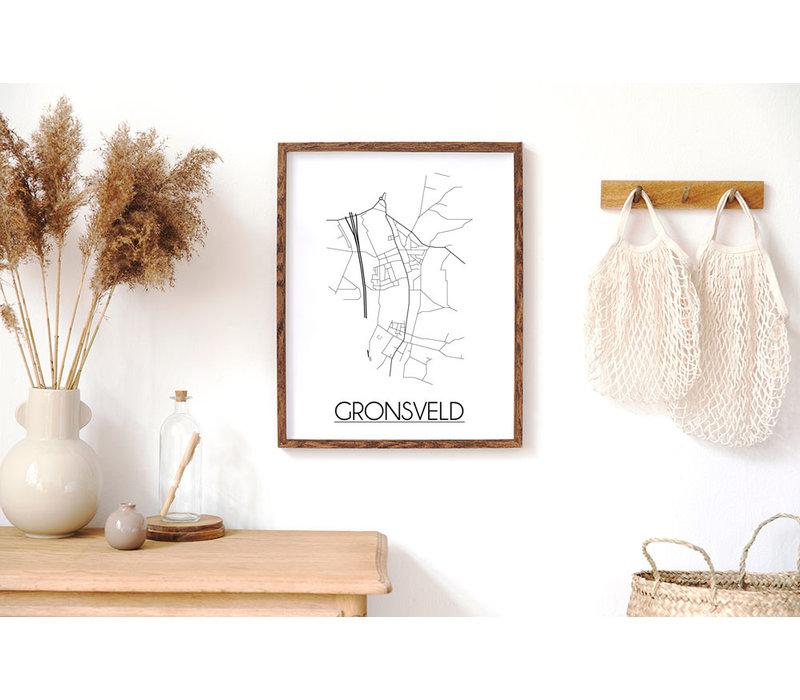 Gronsveld Plattegrond poster