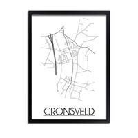 Gronsveld Stadtplan-poster