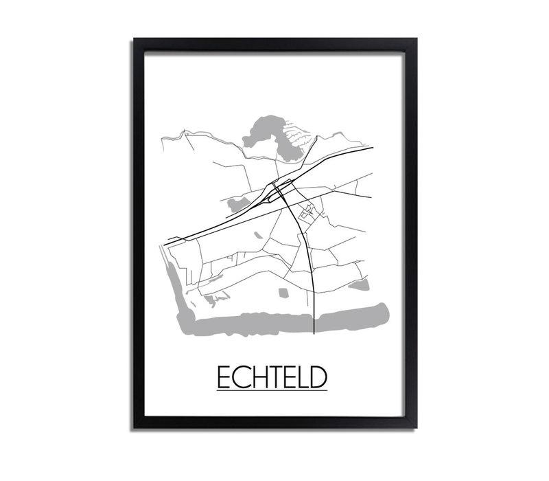 Echteld Stadtplan-poster