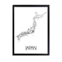 Japan Plattegrond poster
