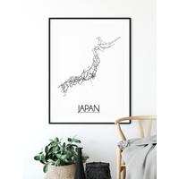Japan Stadtplan-poster