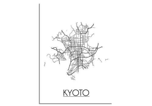 DesignClaud Kyoto Stadtplan-poster