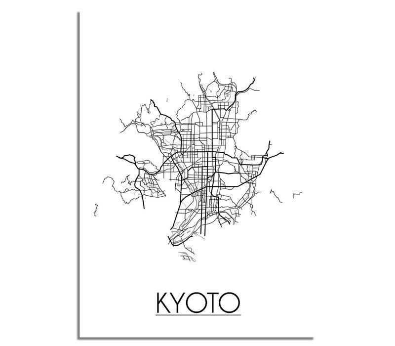 Kyoto Stadtplan-poster
