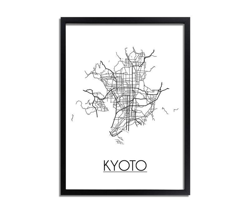 Kyoto Plattegrond poster