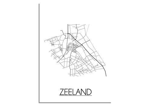 DesignClaud Zeeland Plattegrond poster