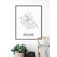 Zeeland Plattegrond poster