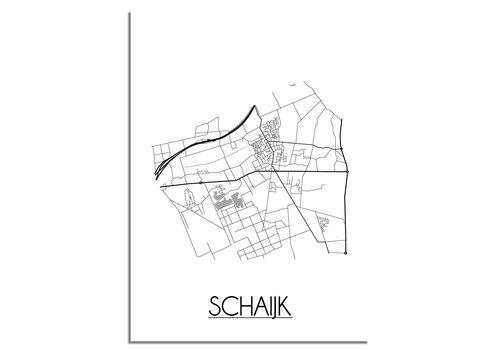 DesignClaud Schaijk Plattegrond poster
