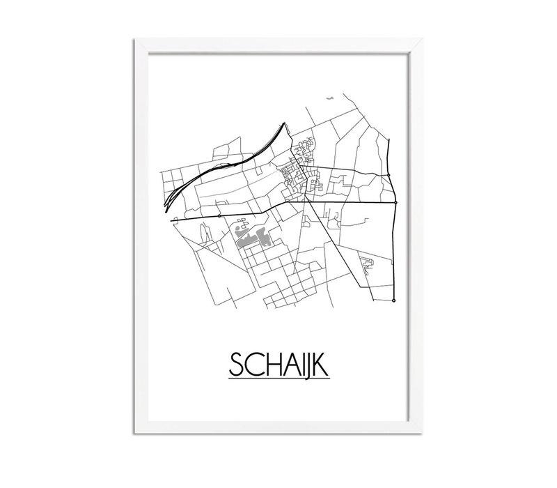 Schaijk Plattegrond poster