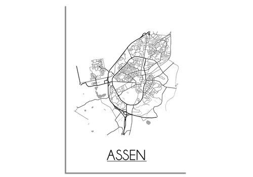 DesignClaud Assen Plattegrond poster